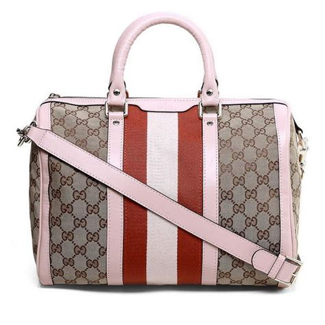 New Gucci 247205 2 new cheap gucci vintage web boston bag 247205 pink 179 00