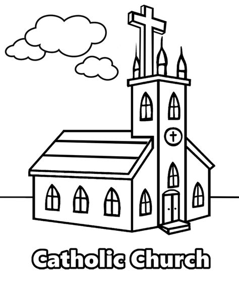 christian church coloring pages coloring page with catholic church