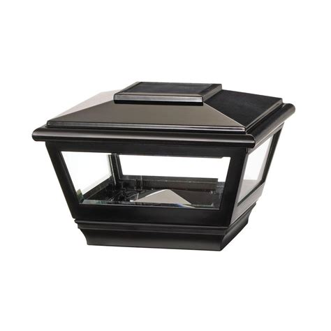 veranda 4 in x 4 in vinyl solar light stainless top