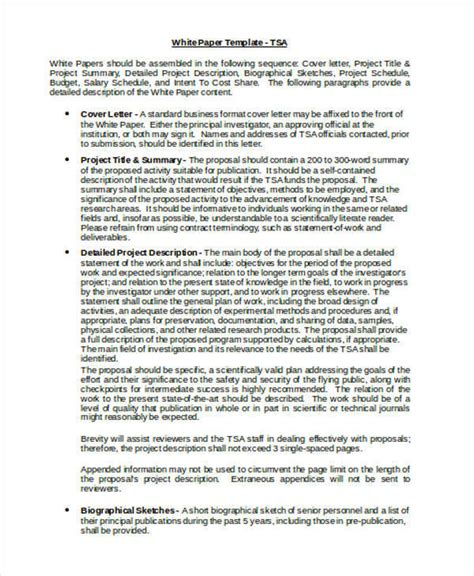 37 Sle White Paper Templates Sle Templates White Paper Format Template