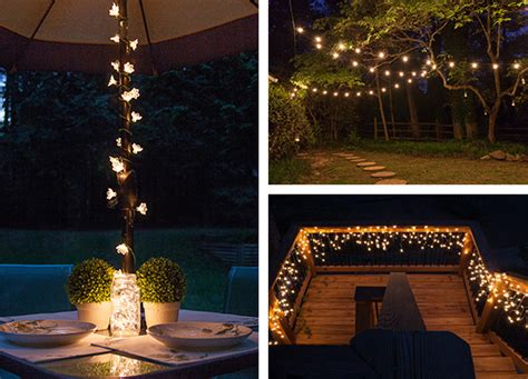 lights on patio outdoor and patio lighting ideas