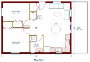 Log Cottage Floor Plan 24 X32 768 Square Feet Floor Plans For A 12 X 32 House