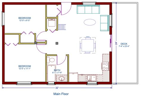 log cottage floor plan   square feet