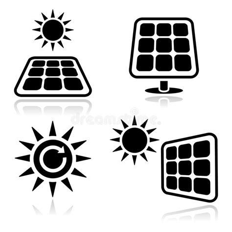solar panels icons stock images image 24926664