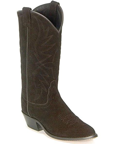 west s roughout suede cowboy boot black us