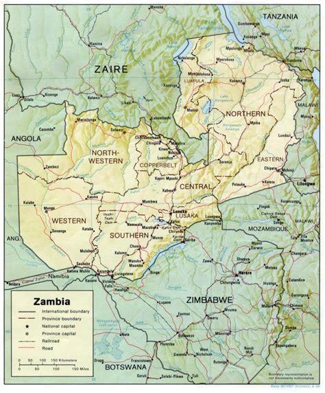 map of lusaka city zambia map