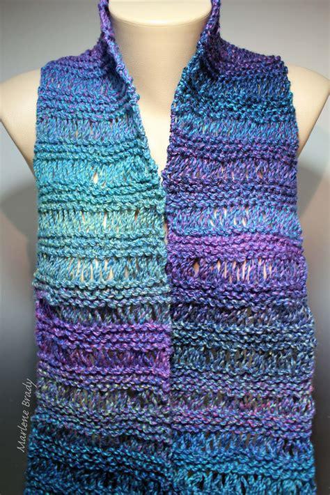 drop stitch knitting marlene brady drop stitch scarf