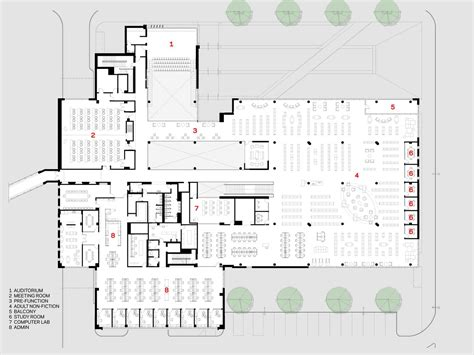 public building floor plans gallery of cedar rapids public library opn architects 12