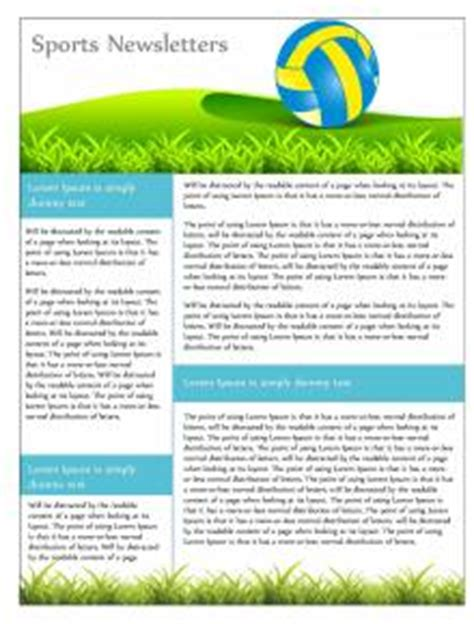 sports newsletter template free printable newsletters newsletter templates email