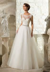 wedding dress lace appliques on soft tulle morilee wedding dress style 5315 morilee