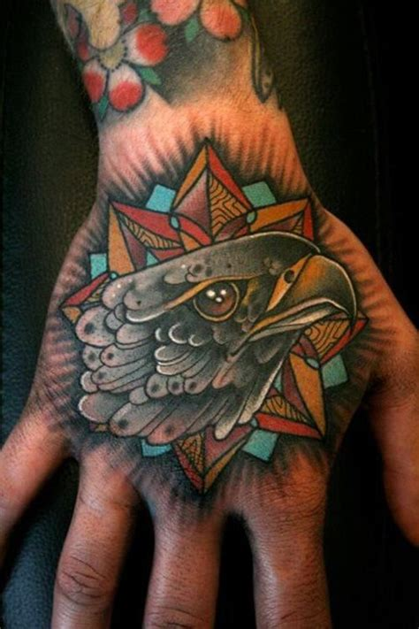 american eagle tattoo on hand love this eagle head by mitchell allenden eagle bird