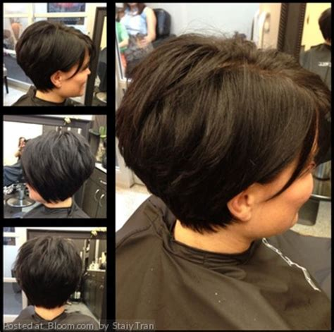 wedge cut for thick hair modified wedge haircut short hairstyle 2013
