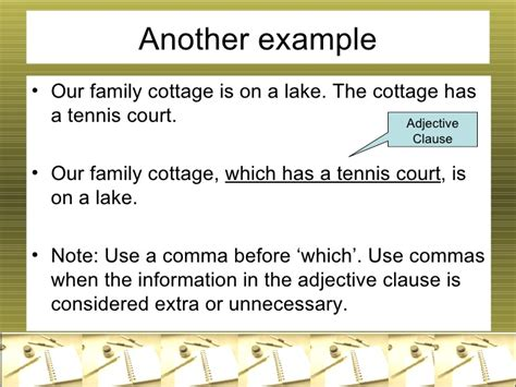 Use Cottage In A Sentence Adjective Clause