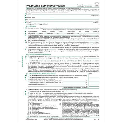 Wohnungs Einheitsmietvertrag 4 Seiten Gefalzt Auf Din A4