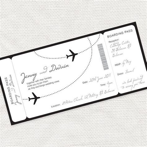 come fly with me airplane boarding pass invitation