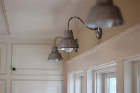 Galvanized Bathroom Lighting Barn Wall Sconces Chandelier Add To Fresh Farmhouse Feel Barnlightelectric