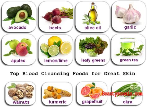Foods That Detox Your Skin by Top Blood Cleansing Foods For Great Skin Clear Skin