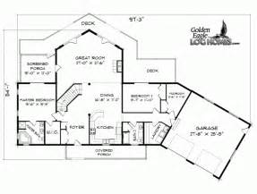 Waterfront Cottage Floor Plans Cabin Plans Lakefront Woodplans