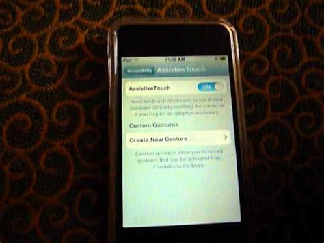 how to get home button accessibility on ipod touch 4g