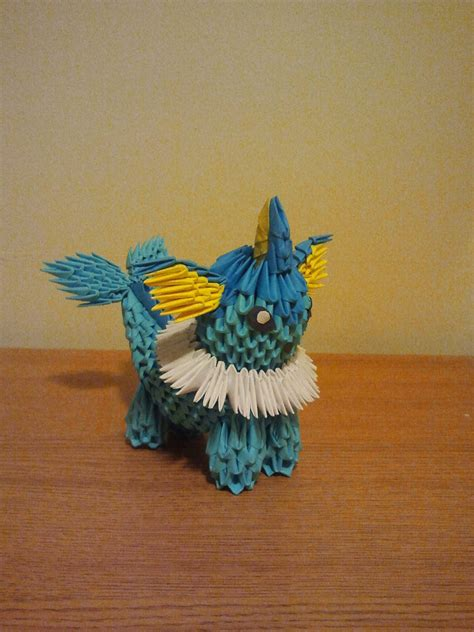 3d Origami Crafts - 3d origami vaporeon by pokegami on deviantart