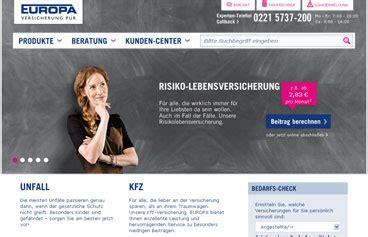 Kfz Versicherung Vergleich Europa by Europa Versicherung Online Berechnen Und Vergleichen