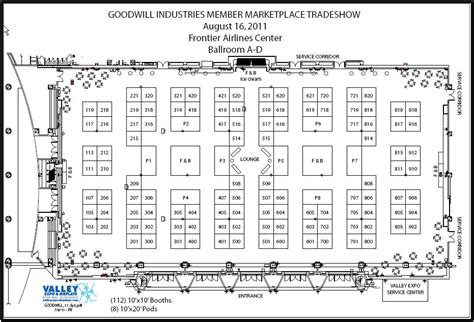 trade show floor plan 2011 member marketplace tradeshow