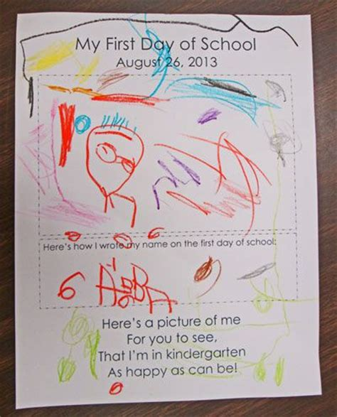 kindergarten activities for the first day of school first day of school cute stuff pinterest