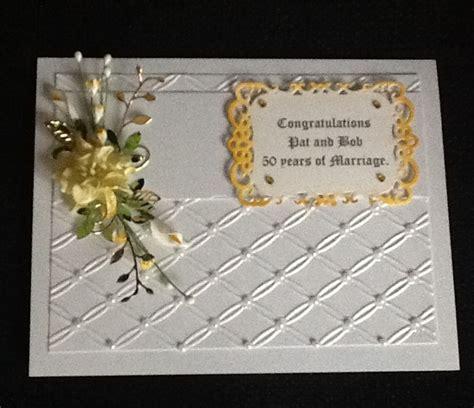 golden wedding cards to make golden wedding card with together folder and