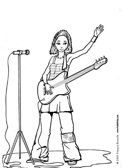 Singer Coloring Pages singer coloring page coloring pages