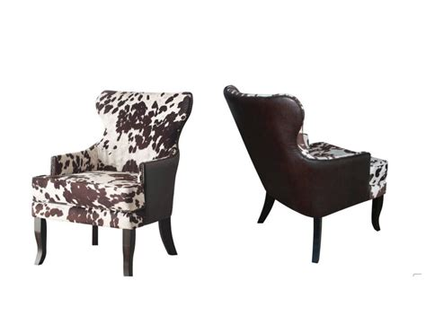 Dining Room Accent Chairs New Cowhide Faux Leather Upholstered Accent Club Arm Chair Animal Dining Room Ebay