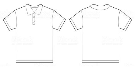 White Polo Shirt Design Template For Men Stock Vector Art 494945574 Istock Polo T Shirt Design Template