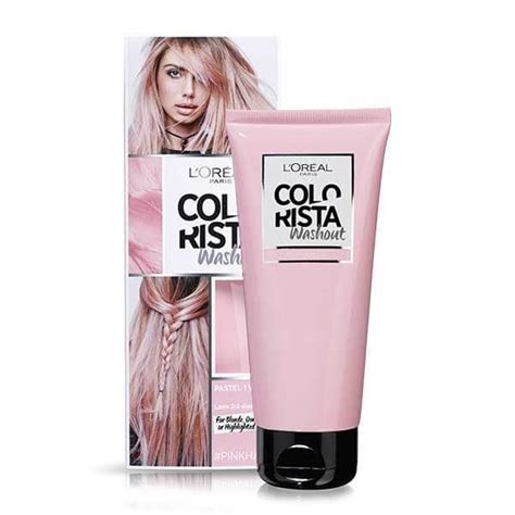 semi permanent hair color wash out colorista washout pink semi permanent hair dye superdrug