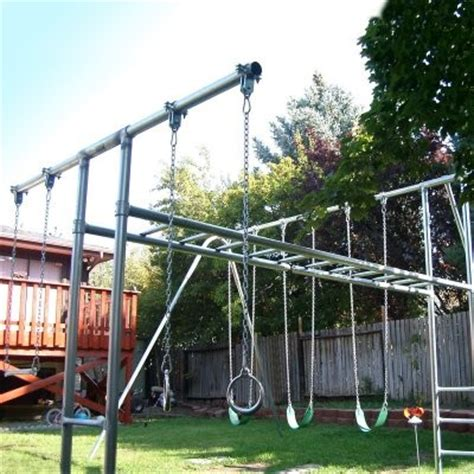 backyard metal swing sets component playgrounds abby metal swing set multicolor ss36 10 contemporary kids playsets