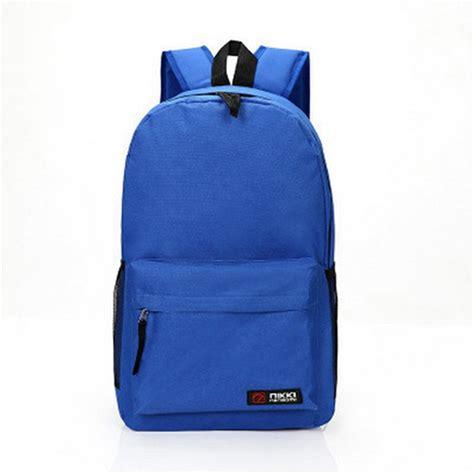 Oxford Plain Backpack oxford cloth backpack travel school shoulder bag