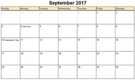 september 2017 calendar with holidays monthly calendar 2017