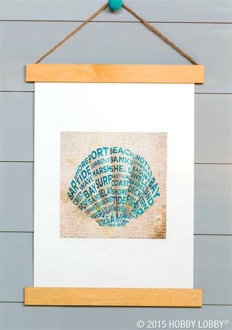 inexpensive diy coastal poster  frame art hanging idea