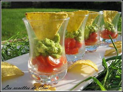 cuisine mol馗ulaire recette facile recette de tartare de tomate et guacamole en verrine