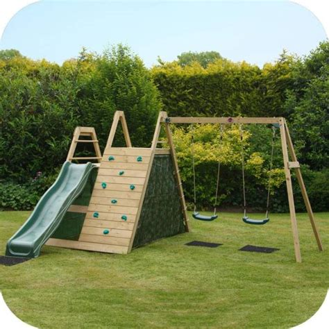 big w swing sets plum kids swing slide climb wooden playground buy