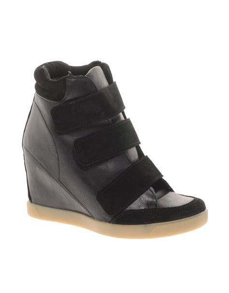 velcro wedge sneakers asos asos trouble wedge trainers with velcro and