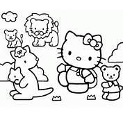 Colorear Hello Kitty 4  Dibujo Para