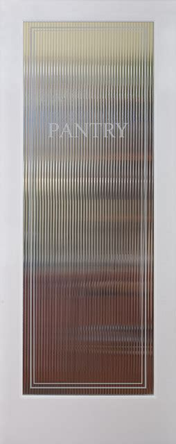 Reeded Pantry Decorative Interior Glass Door Interior Reeded Glass Door