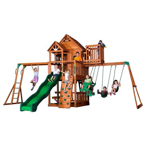 cheap swing sets with free shipping discount swingsets sunray gorilla playsets