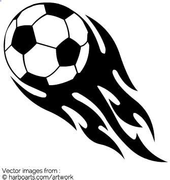 Free Clipart Flaming Soccer by Soccer Football With Flames Vector Graphic