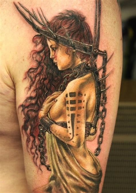 pinterest tattoo warrior lady warrior tattoo tattoos pinterest dark wavy