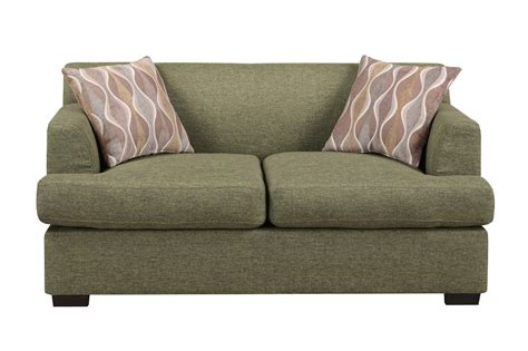 green loveseats poundex montreal v f7977 green fabric loveseat steal a
