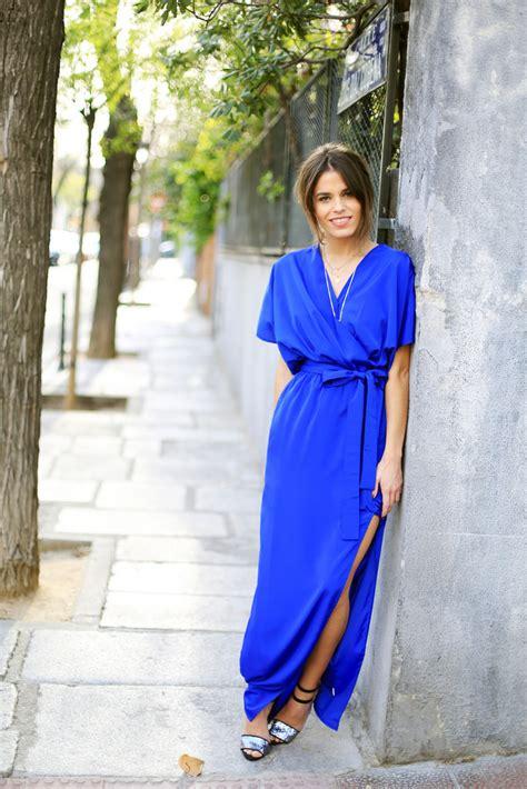 Marien Maxi Blue code blue klein dress seams for a desire