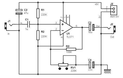 Ic Tl071 guitar pre lifier based tl071 lifier circuit design