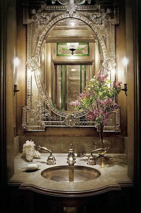 Venetian Mirror Bathroom Best 25 Venetian Mirrors Ideas On Pinterest Glam Powder Room Regency And Blue