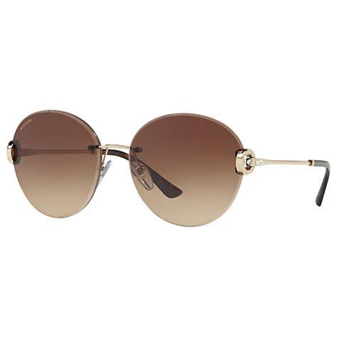 Bvlgari Bv029 Brown Rosegold buy bvlgari bv6091b sunglasses gold brown gradient lewis