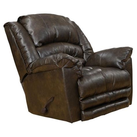 catnapper leather recliners catnapper filmore leather rocker recliner in timber